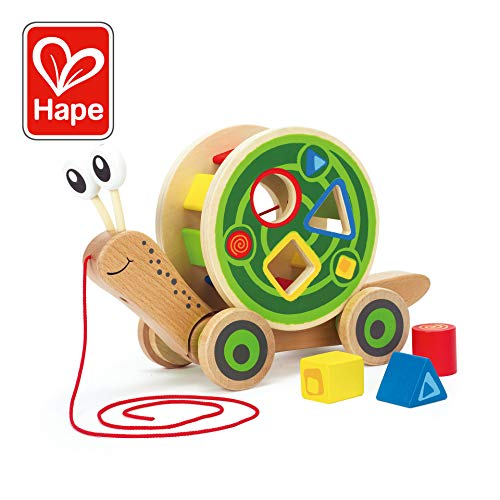 - Award Winning Hape Walk-A-Long Snail Toddler Wooden Pull Toy