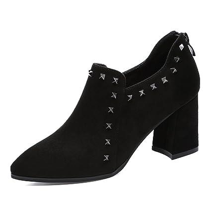 Zapatos para mujer HWF Zapatos de tacón Alto de Primavera Zapatos de tacón Alto de Mujer