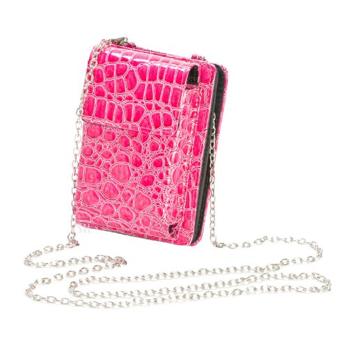 Pink Mini Purse Zip Around Wallet, Bags Central