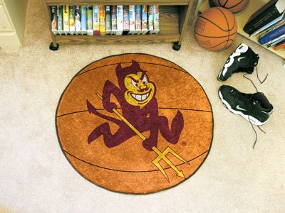 Fanmats Arizona State Sun Devils Basketball-Shaped - Arizona Basketball Rug