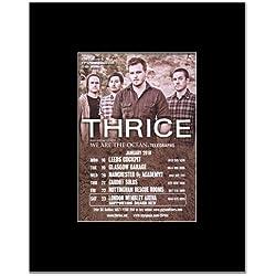 THRICE - UK Tour 2010 Mini Poster - 13.5x10cm