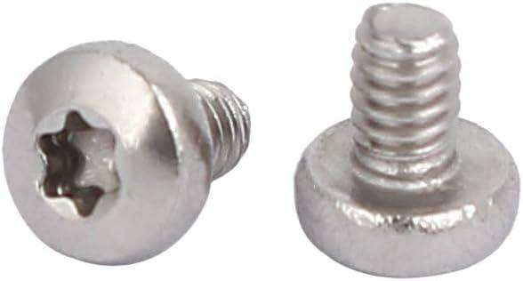 M3 x 4mm M3 Pan Head Torx Socket Cap 304 Stainless Steel Machine Screw,Pack of 100-piece