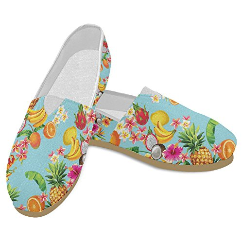 InterestPrint Womens Loafers Classic Casual Canvas Slip On Fashion Shoes Sneakers Mary Jane Flat Hawaiian Jbi0bi