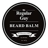 Beard Balm Conditioner Softener - All Natural Fragrance Free - Styles, Softens, Strengthens and Promotes Healthy Beard & Mustache Growth - Leave In Conditioner Wax Moisturizes Skin & Facial Hair