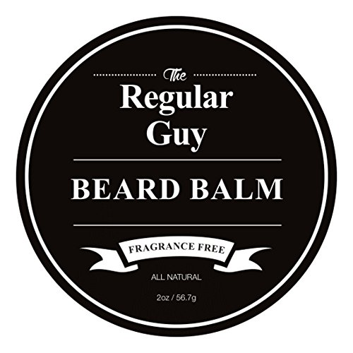 Beard Balm Conditioner Softener - All Natural Fragrance Free - Styles, Softens, Strengthens and Promotes Healthy Beard & Mustache Growth - Leave In Conditioner Wax Moisturizes Skin & Facial -