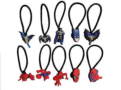 [AVIRGO 10 pcs Elastic Hair Bands Hairband Hairbands Ponytail Holders Set # 122 - 5] (Dc Comics Penguin Costumes)