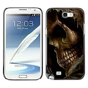 MOBMART Carcasa Funda Case Cover Armor Shell PARA Samsung Note 2 N7100 - The Skeletal Artifact