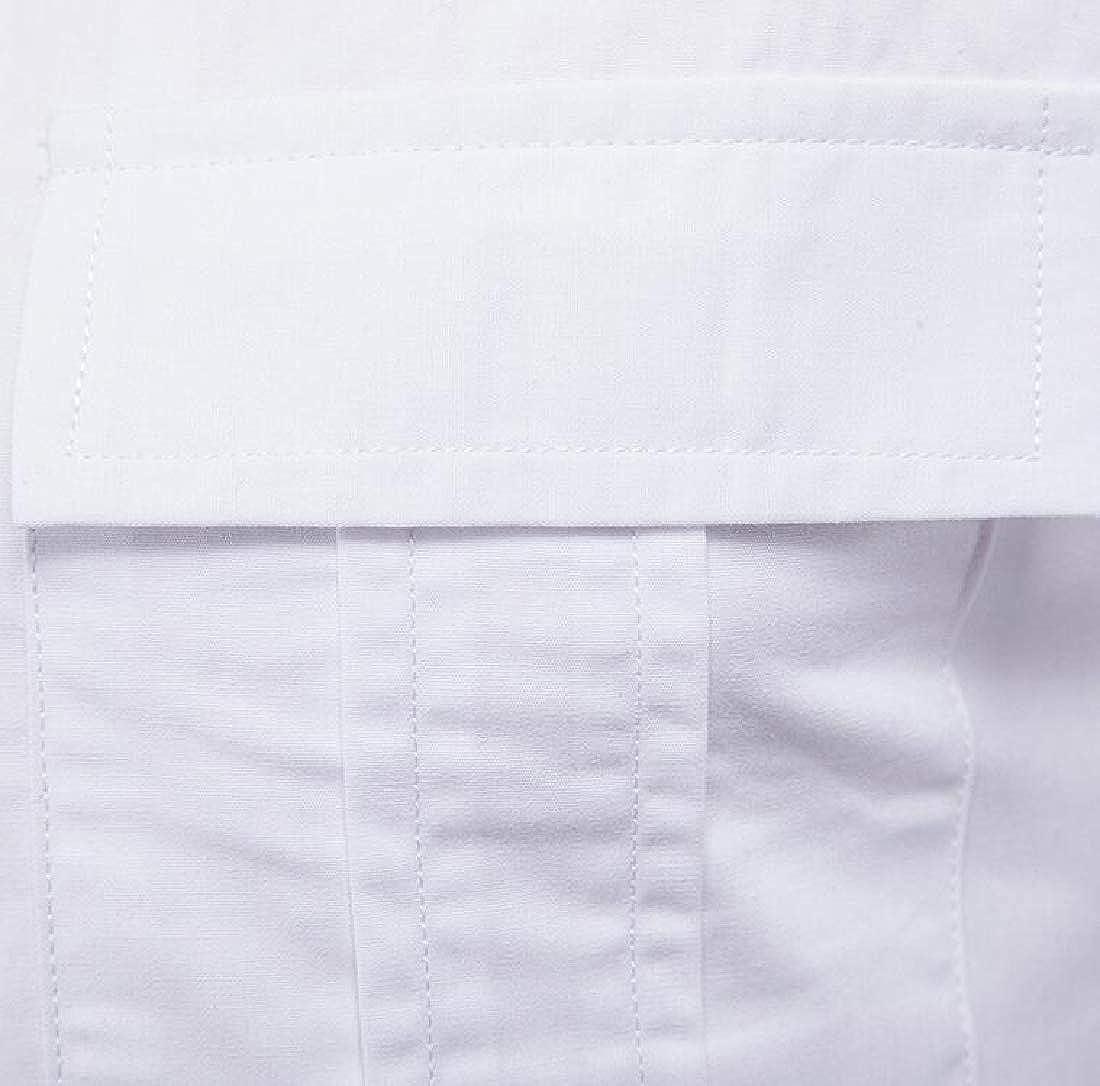 Alion Mens Vintage Long Sleeve Casual Slim Fit Cotton Fashion Button Down Dress Shirt