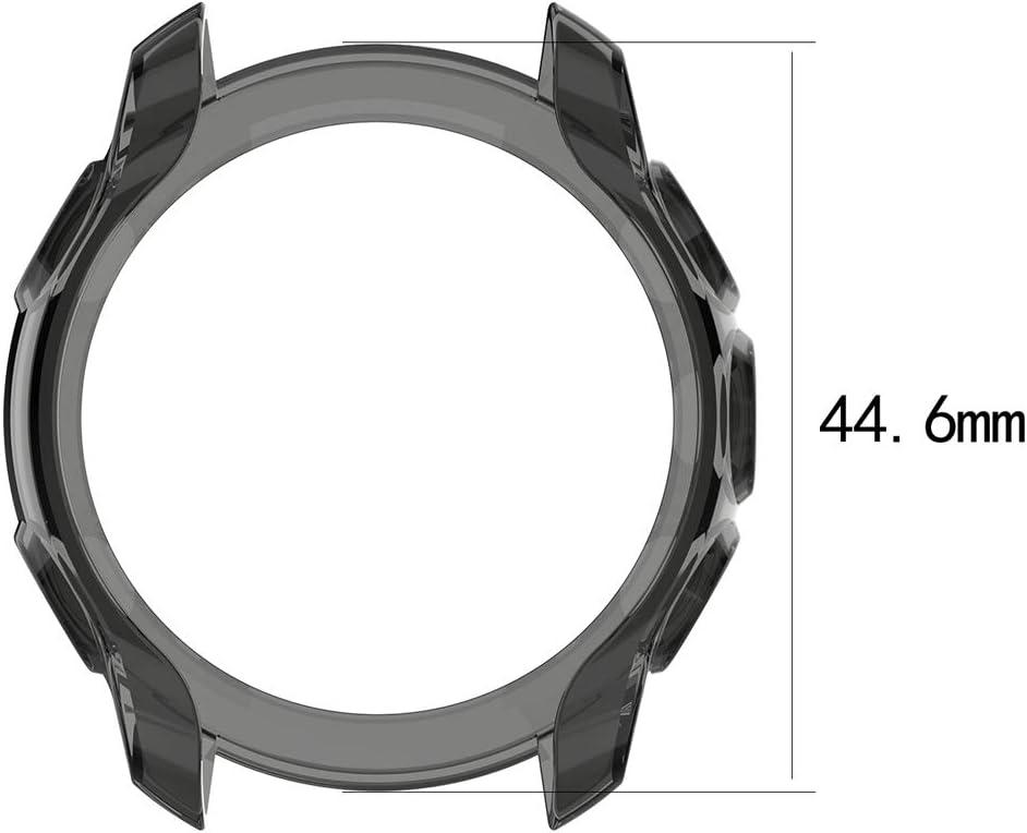 Soft Anti Drop TPU Protective Cover Garmin Forerunner 245//245M Disscool Silicone Case for Garmin Forerunner 245//245M TPU Black