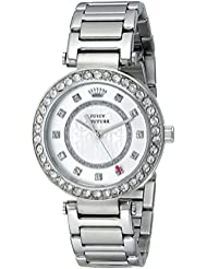 Juicy Couture Womens 1901150 Luxe Couture Analog Display Quartz Silver Watch