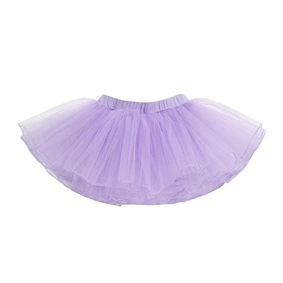 Logobeing Falda de Tul Niña Princess Tutú Enagua Falda de Ballet ...