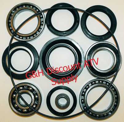 Quality Rear Differential Bearing and Seal Kit for the 1988-2000 Honda TRX 300 2x4 4x4 FW ATVs by Armortech