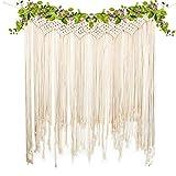 yazi Macrame Woven Wall Hanging Curtain Fringe Garland Banner Home Décor Handwoven - Boho Shabby...