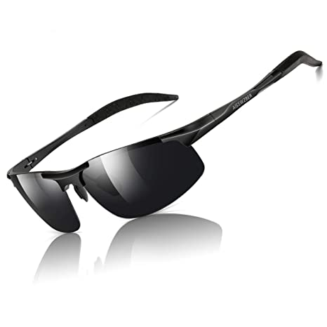 0a1ed58a7bfb Amazon.com: aisswzber Mens Sports Polarized Sunglasses Driving Metal Frame  UV Protection Sunglasses for Men 8177: Sports & Outdoors