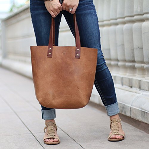 The Ashley Tote Fine Leather Handbag Purse Bag by Holtz Leather Co.