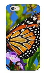 Iphone 6 Hard Back With Bumper Silicone Gel Tpu Case Cover For Lover's Gift Monarch Butterfly