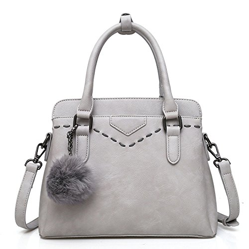 DHFUD Bolso De Hombro De La Mujer Messenger Bag Messenger Strap Fashion Lightgray