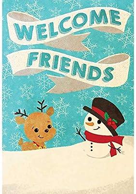 Fotos Cena Navidad Frinsa.Magnolia Garden Welcome Snow Friends Sky Blue 18 X 13