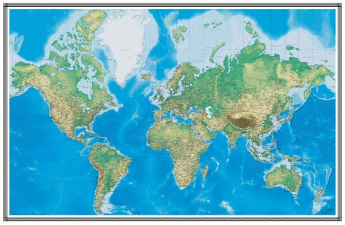 96x144 world geophysical wall map mural laminated buy online in save gumiabroncs Images