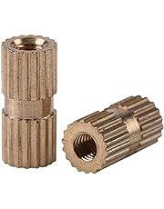 150 Unids M3 3 * 4 * 5 * 6 * 8 * 10 * 12 mm Kit de Tuercas Insertablesr de Latón Moleteado Roscado con Caja de Plástico