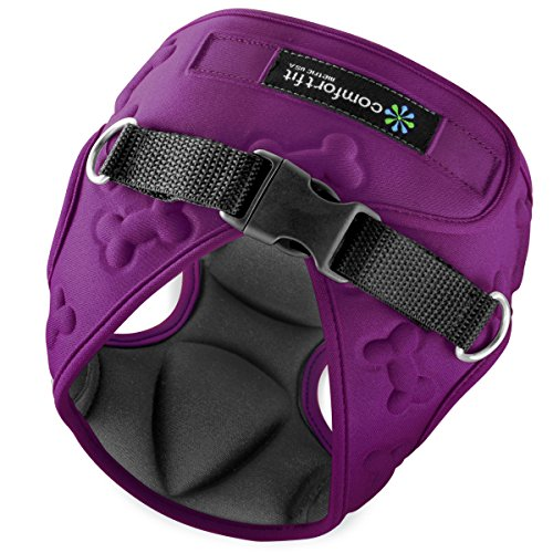 Easy to Put on and Take off Small Dog Harnesses Our small Dog Harness Vest has padded Interior and Exterior Cushioning Ensuring your Dog is Snug and Comfortable ! (Small, Purple) by Comfort Fit Metric USA