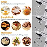 Stand Mixer,Posame Dough Mixer,Kitchen Mixer Electric Mixer with Stand 5.5 Quarts Stainless Steel Bowl,Tilt Head,Pouring Shield,Dough Hook,Flat Beater,Whisk 6 Speed Dough Kneading Machine Silver