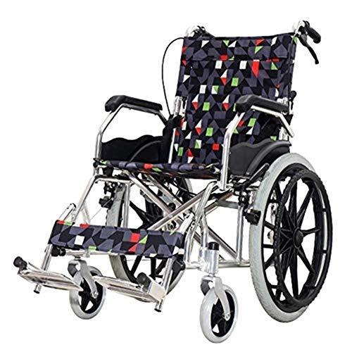- Folding Wheelchair Travel Multi-Function Portable Aluminum Alloy Wagon for The Elderly