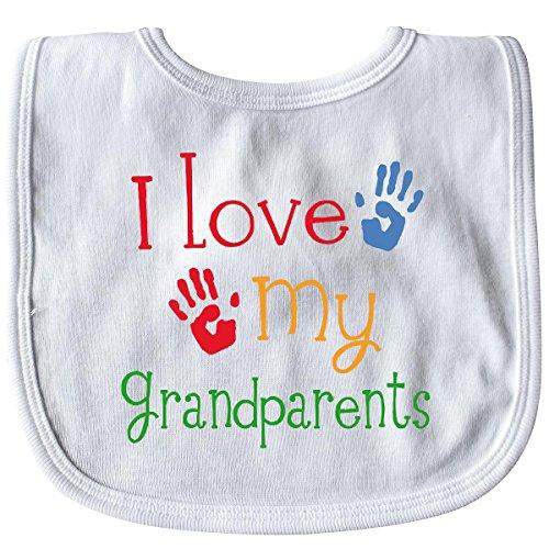 Inktastic - I Love My Grandparents Baby Bib White