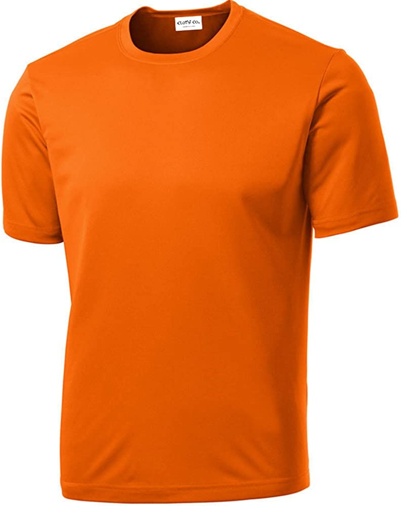 Mens Short Sleeve Moisture Wicking Athletic T-Shirt Clothe Co