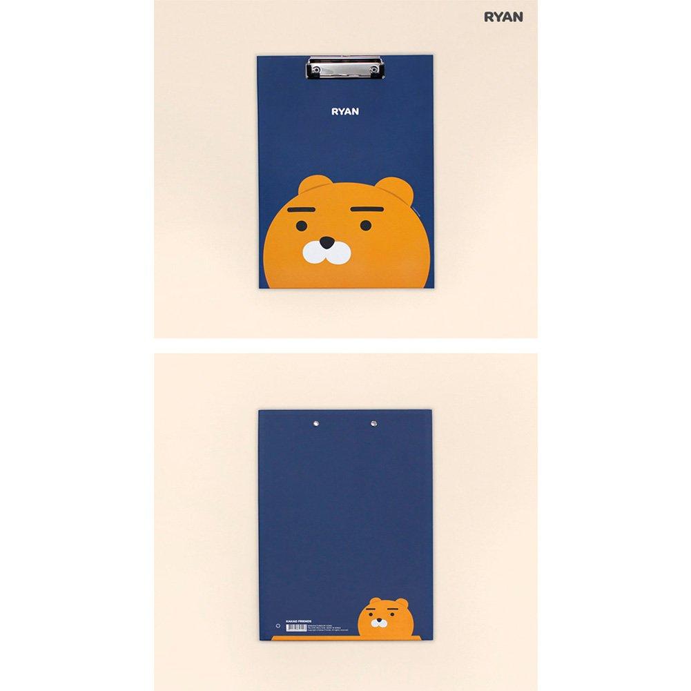 Kakao Friends Hard File Folder School Supply A4 Clip Board School Office (Ryan)
