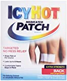 Icy Hot Topical Analgesic Back Patch, 5 Count Box (1) Temporarily Relieves Minor Pain Associated with Arthritis, Simple Backache, Muscle Strains, Sprains, Bruises, and Cramps