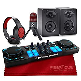 Hercules DJControl Compact Controller for Serato DJ Software + Speakers + Headphones + Deluxe Accessory Bundle