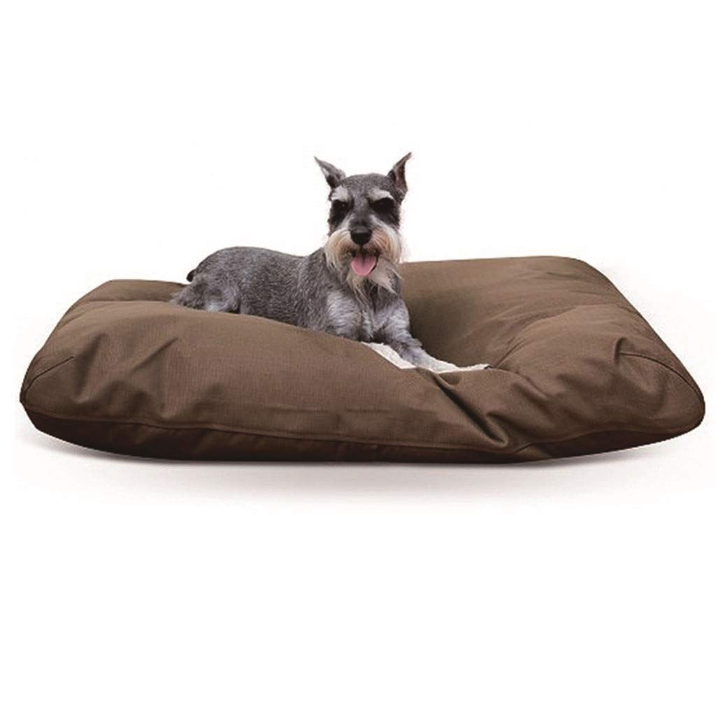BROWN 122x91x10cm BROWN 122x91x10cm Dog Bed cat mat Pet Bed Pad Removable and Washable Waterproof Dog Cage Sleeping Pad Four Seasons Available Brown   bluee   91 122cm Four Seasons Universal Washable