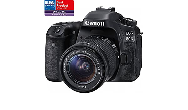 CANON EOS 80D + 18-55 IS STM + 55-250 IS STM: Amazon.es: Electrónica
