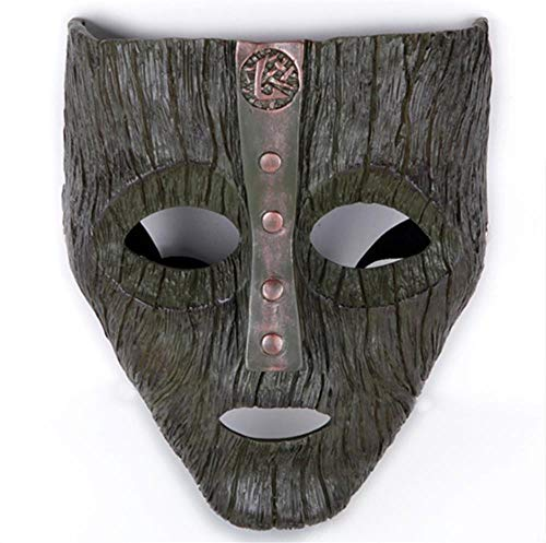 LeMarnia Halloween Cosplay Costume Mask for Adults Resin Loki Replica Mask (Dark Color)