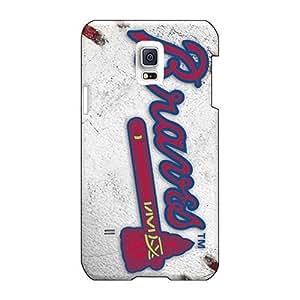 AlissaDubois Samsung Galaxy S5 Mini Protective Hard Cell-phone Case Unique Design Vivid Atlanta Braves Pictures [zYg668YUMw]