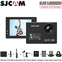 SJCAM SJ6 Legend 2 inches Touch Screen Remote Action Sports Video Camera Waterproof 4K HD1080P 24FPS Action Camera, Black