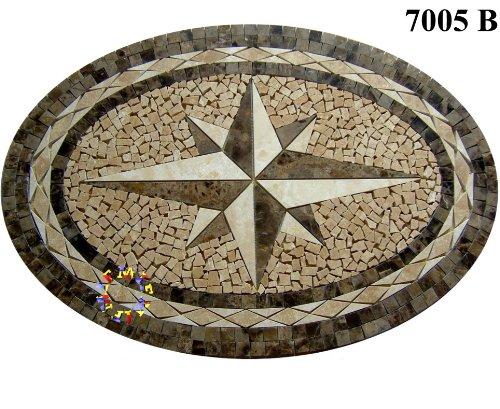 Floor Marble Medallion Mosaic Tile 24 x 34 Inch.