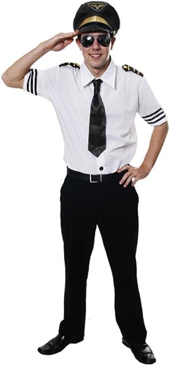 Nuevo adulto hombres disfraz de piloto de línea aérea fuerza ...