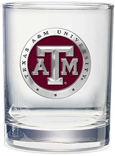 (CMC Heritage Pewter NCAA Texas A&M Aggies DBL Old Fashion Gift Set (Set of 4), One Size,)