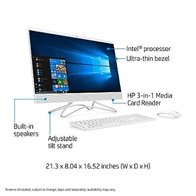 HP 24-inch All-in-One Computer, Intel Core i5-8250U, 12GB RAM, 1TB Hard Drive, Windows 10 (24-f0060, White)