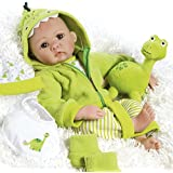 Paradise Galleries Lifelike Reborn Baby Boy Doll That Looks Real Lil' Dino & Rex, 7-Piece Gift Set, 17 inch in GentleTouch Viny, 8-Piece Set