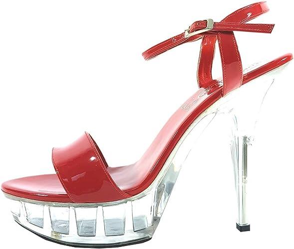 High Heel Court Pump Sandals Shoes (UK