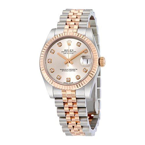 Rolex Lady Datejust Silver Diamond Dial Steel and 18K Everose Gold Jubilee Watch 178271SDJ