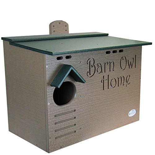 JCs Wildlife Barn Owl Nesting House - Large Home Made w/Recycled Poly ()