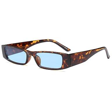 e419820fcb Vintage Gafas de sol Extremo delgado pequeña Lente Gafas de sol  rectangulares coloreadas: Amazon.es: Ropa y accesorios