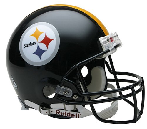 (NFL Pittsburgh Steelers Full Size Proline VSR4 Football Helmet)