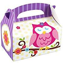 Owl Blossom Party Supplies - Empty Favor Boxes (4)