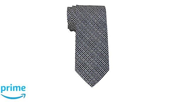 BRIONI Dark Blue With Geometric Pattern 100/% Silk Neck Tie $230 New