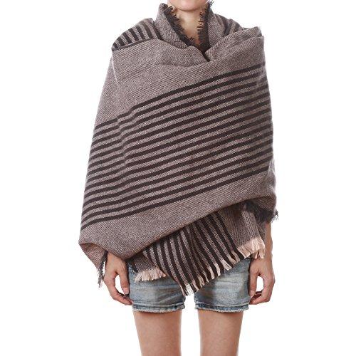 Soul Young Unisex Stylish Blanket Stripped Neck Warmer Scarf Cape Wrap Pashmina Shawl  One Size  Pink 2